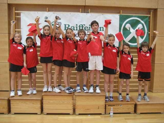 Die strahlenden Teilnehmer/innen an der VSS-Kinderolympiade