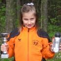 Annika Oberrauch darf sich über ihre Leistung freuen