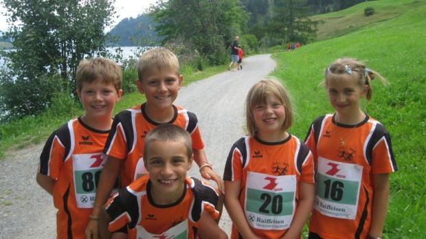 Einige junge Athleten des ASC Berg am Haider See