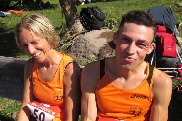 Inge Giuliani und Andy Eller in entspannter Stimmung nach dem Rennen