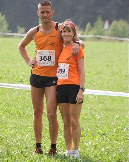 Robert Pichler und Marlene Zipperle nach dem Zieleinlauf
