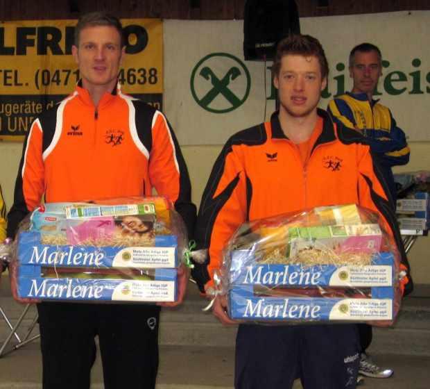 Michael Aster und David Andersag bei der Siegerehrung in Branzoll