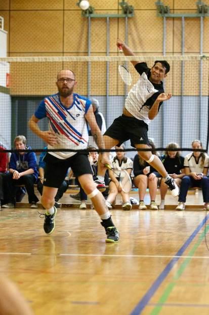 Die Sieger im Herren Doppel in Aktion: Daniel Mögerle und Fredyno Saha