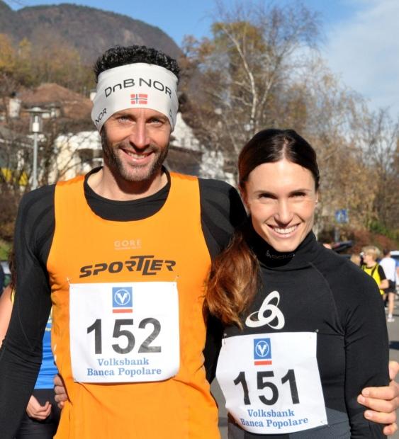 Die schnellste Paar der Mixed-Kategorien: Renate Rungger und Edi Lahner