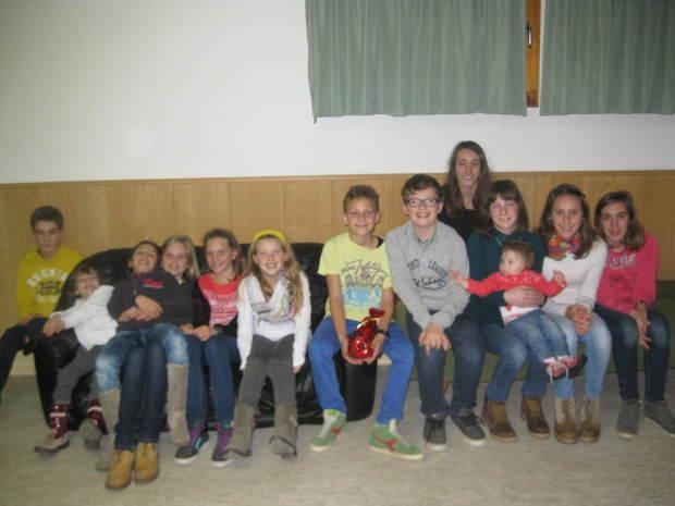 Die Jugendgruppe des ASC Berg bei der Nikolausfeier
