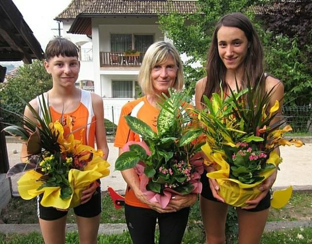 Die 3 erstplatzierten Damen bei der diesjährigen Vereinsmeisterschaft: Ruth Hannah Hauser, Marlene Zipperle und Stefanie Auer