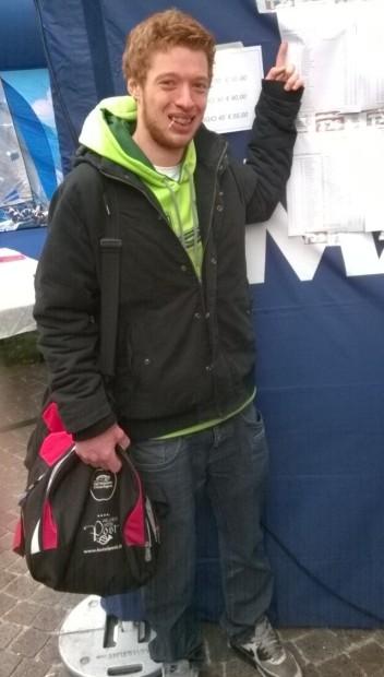 Ganz oben in der Ergebnisliste: David Andersag nach dem Garda-Run