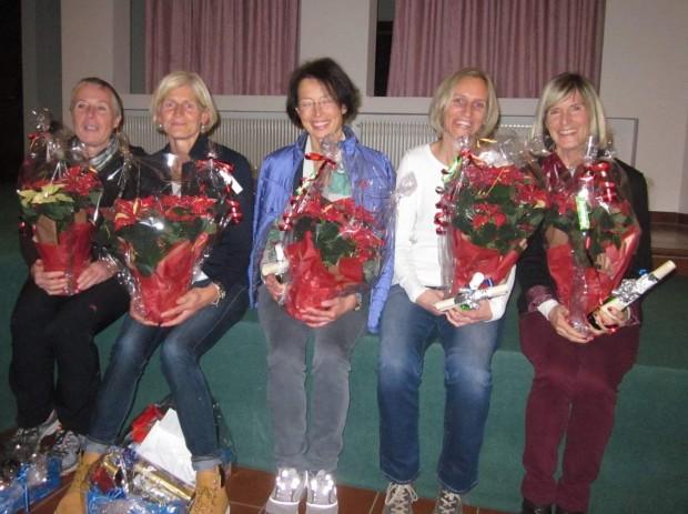 Die siegreichen Damen beim heurigen Laufcup: (v. r.) Marlene Zipperle, Inge Giuliani, Renate Maoro, Maria-Luise Palma und Elisabeth Niedermair