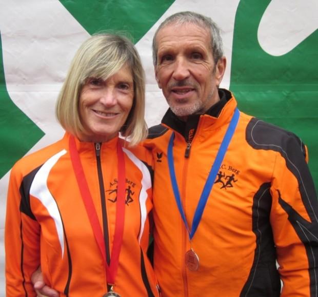 Marlene Zipperle und Helmut Müller nach dem erfolgreichen sportlichen Jahresabschluss