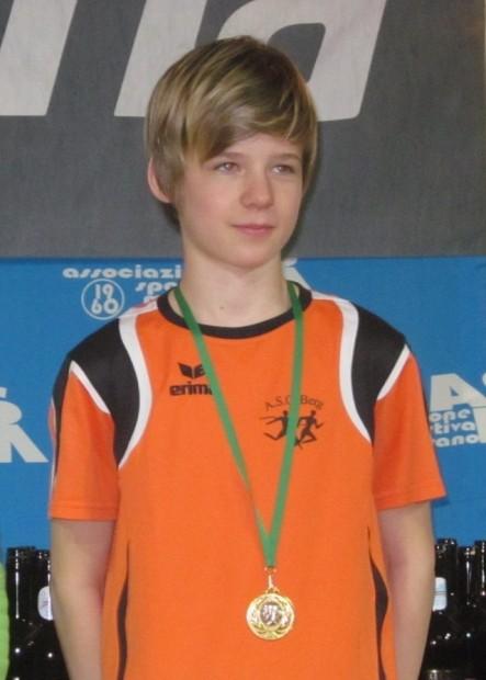 Silber in der Altersklasse 2003-2004 gab es für Alexander Malfer