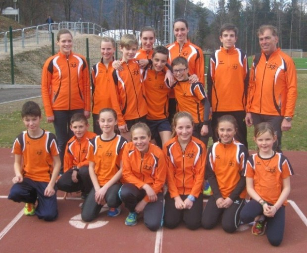 Die Jugendgruppe des ASC Berg nach dem Jugendberglauf in Kaltern