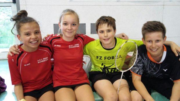 unsere Italienmeister Greta, Nadia, Felix und Lukas