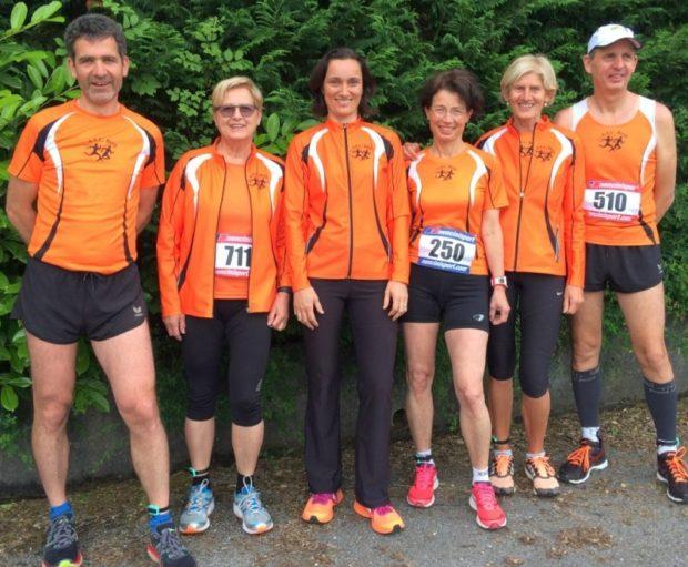 Die erfolgreichen Läufer des ASC Berg in der Emilia Romagna