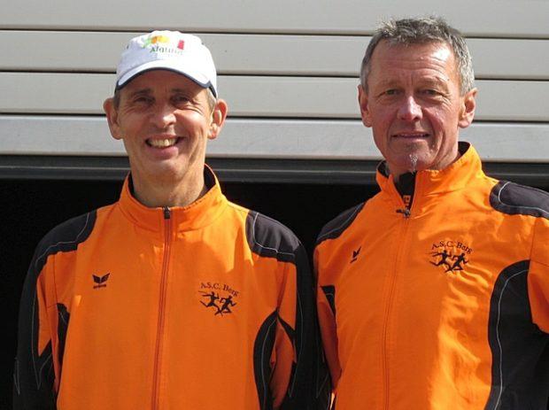 Leo Langes und Anton Mitterhofer bewältigten am selben Tag den Berglauf Hochmuth und den Dorflauf in Algund