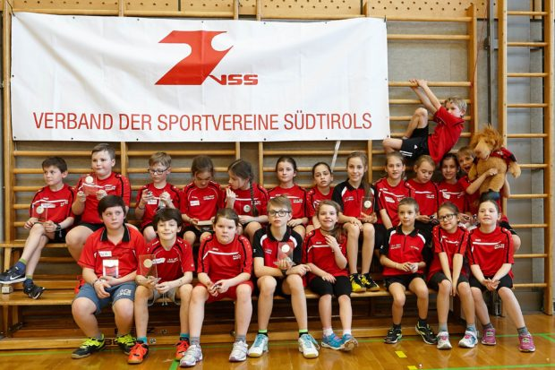 die Teilnehmer an der Kinderolympiade des ASC Berg