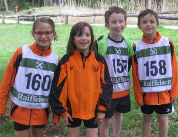 Einige der jungen Läufer: Maria Simonini, Magdalena Pichler, Giacomo Bombanati, David Kofler