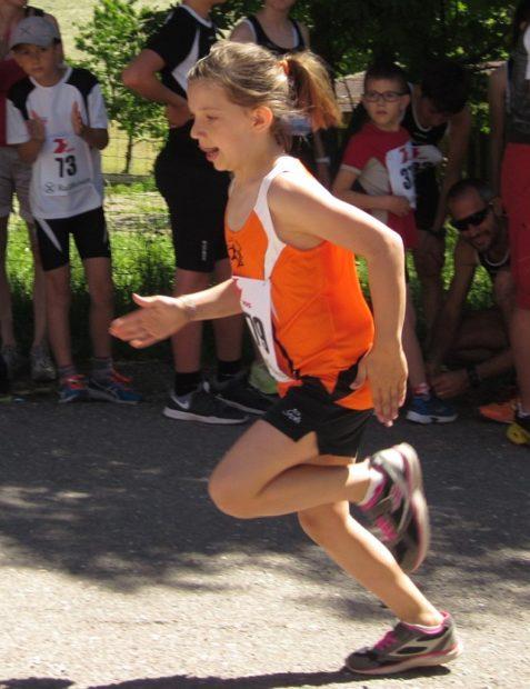 Seriensiegerin Magdalena Pichler kurz vor der Ziellinie