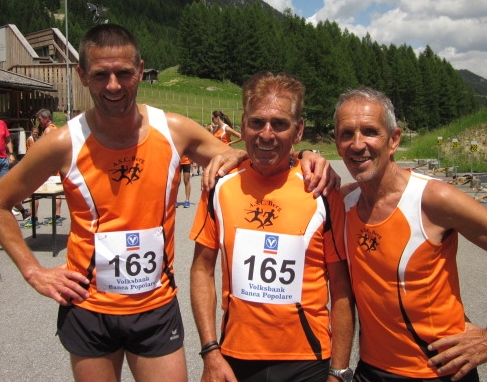 Robert Pichler, Heinz Sachsalber und Helmut Müller nach absolviertem Wettkampf