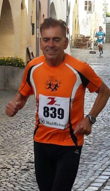 Heinz Sachsalber auf Medaillenkurs beim Glurnser Stadtlauf