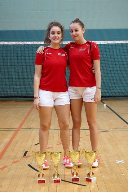 unsere erfolgreichen Spielerinnen Martina Delueg und Lara Dösel (Foto: Aldo Danti)