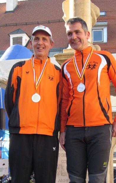 Strahlende Sieger: Leo Langes und Christian Werth dominierten die Altersklasse M50