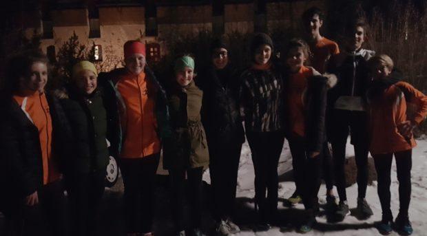 Laufspaß im Mondschein für die Jugendgruppe des ASC Berg
