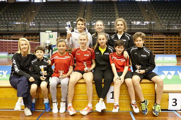 Gruppenfoto beim Superseries Turnier in Bozen
