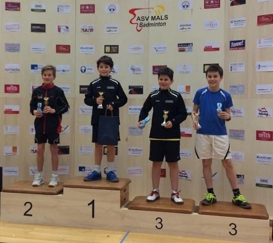 Gold für Marco Danti und Bronze für Manuel Pircher in der Kategorie U13