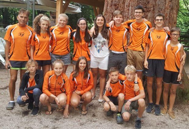 Die Jugendgruppe des ASC Berg in Matschatsch