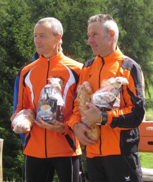 Peter Riffesser und Armin Tschigg bei der Preisverleihung in Marinzen