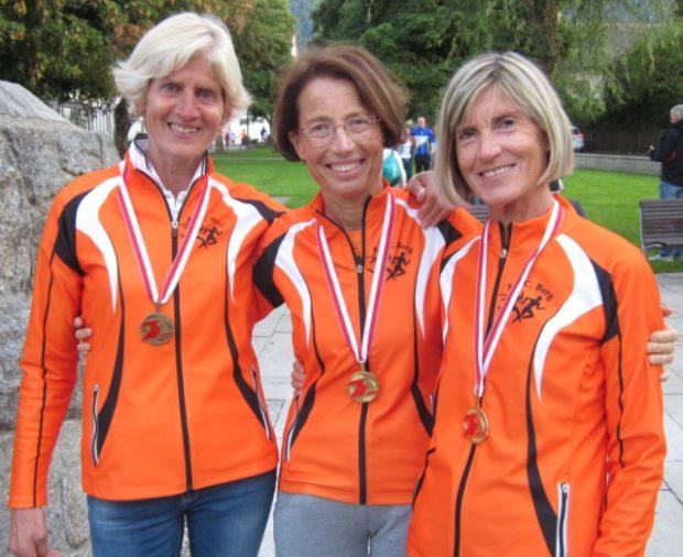 Die erfolgreichen Läuferinnen des ASC Berg: Maria Luise Palma, Renate Maoro und Marlene Zipperle