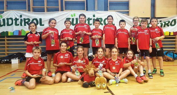 Die ASC Berg Kids nach der Kinderolympiade in Meran