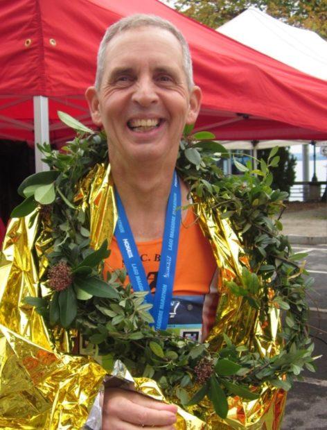 Leo Langes strahlt nach seinem ersten Marathon