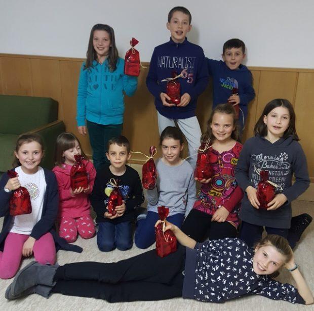 Unsere jüngsten Sportler bei der Nikolausfeier