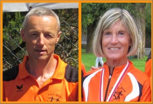 Die beiden Sieger des Laufcups 2018: Peter Riffesser und Marlene Zipperle