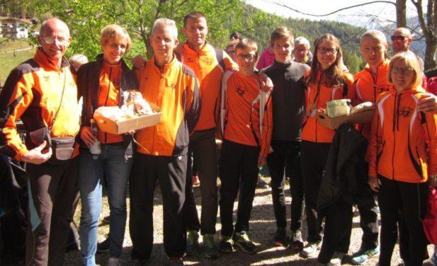 Gute Stimmung herrschte nach dem Dorflauf in Oberwielenbach